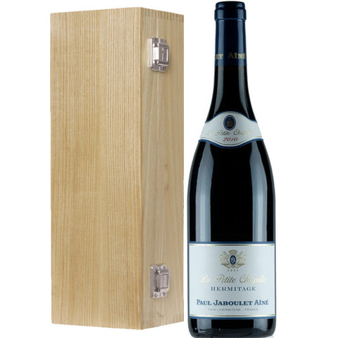 'La Petite Chapelle' Hermitage Paul Jaboulet 2010  Single Bottle Wooden Gift Box