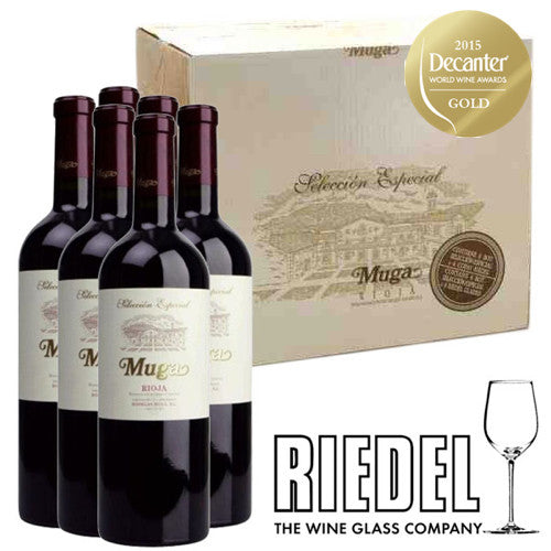 Muga Selection Especial & Riedel Rioja Glass Set (6)