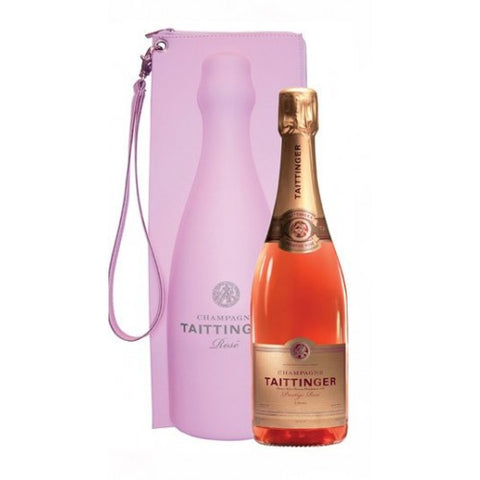 Taittinger Prestige Rosé Single Bottle Gift in Cool Bag