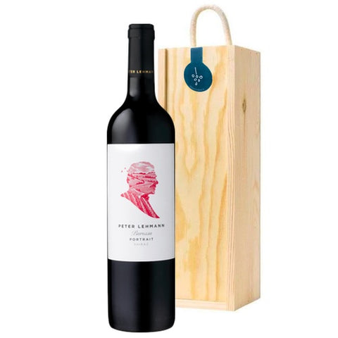 Peter Lehman Barossa Valley 'Portrait' Shiraz Single Wooden Gift