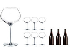 Rona Burgundy Glasses & Wine Gift Set