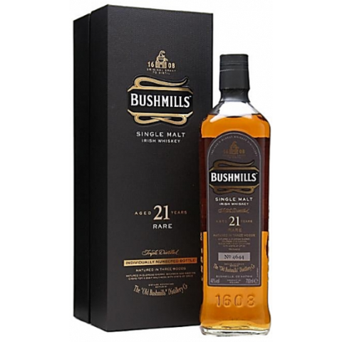 Bushmills 21 Year Old Single Malt Irish Whiskey