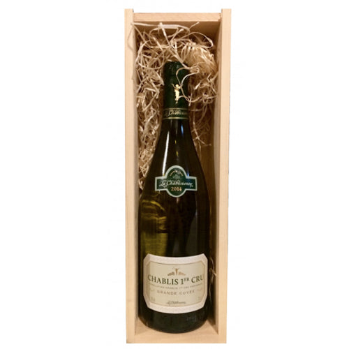 La Chablisienne Chablis 1er Cru 'Grande Cuvee' Single Bottle Wooden Gift Box