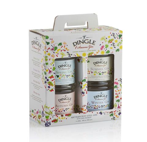 Dingle Four Seasons Gin Gift Set 4 x 200ml
