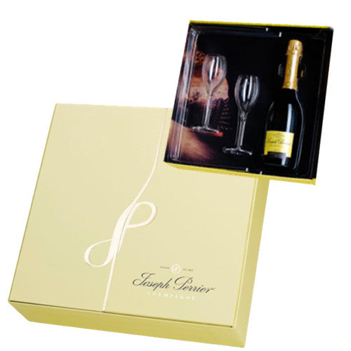 Joseph Perrier Champagne & Glasses Gift Box