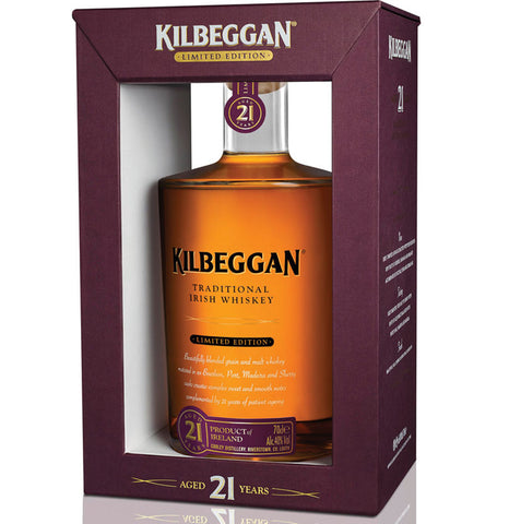 Kilbeggan 21 Year Old Whiskey