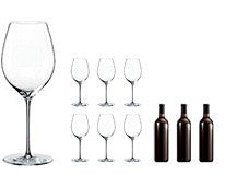 Rona Red Wine Glasses & Rioja Wine Gift Set
