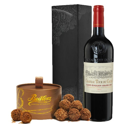 Saint Emilion Grand Cru & Cholates Single Bottle Gift Box