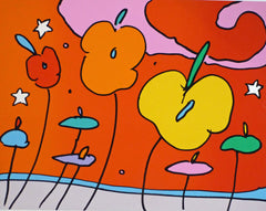 Peter Max - Three Flowers