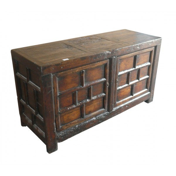 Antique Chinese Brown Rice Cabinet