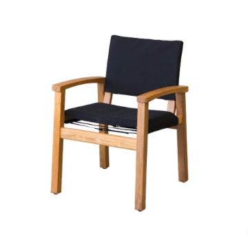 Devon Teak Barker Chair Black