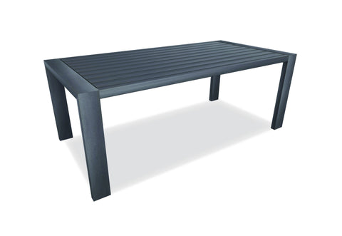 Hamilton Alu Dining Table Charcoal 2.4m