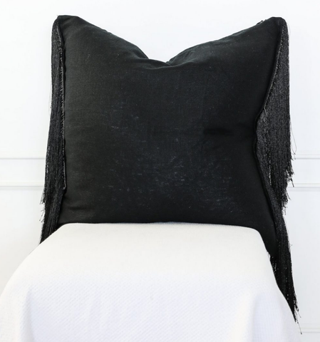 Cushion Chinook Long Black Fringe Tassel