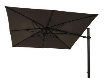 LUX 301 3m Umbrella - Charcoal Frame Slate Shade w 120kg Base