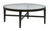 Ascot Round Glass Coffee Table Mocca
