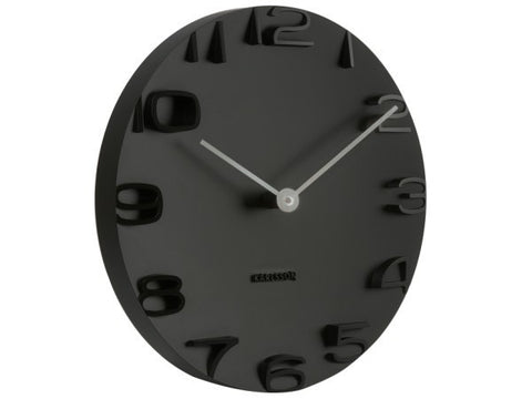 Wall Clock On The Edge Black