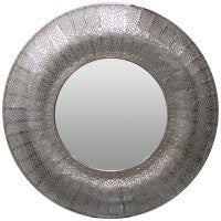 Marrakesh Mirror Round Silver