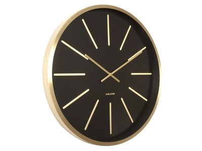 Wall Clock Maxiemus Gold BK