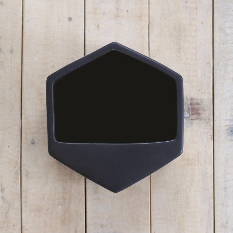 Hexagon Wall Planter Large Black