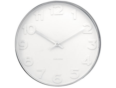 Mr White Numbers Wall Clock