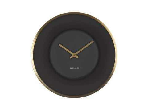Wall Clock Illusion Black Gold
