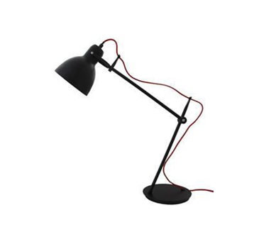 Lamp Matt Black Red Cord