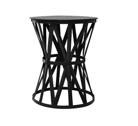 Black Iron Drum Table Large 56x55