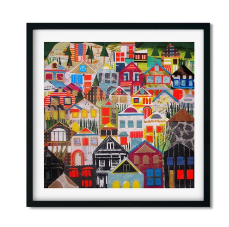 SF House Collage Art