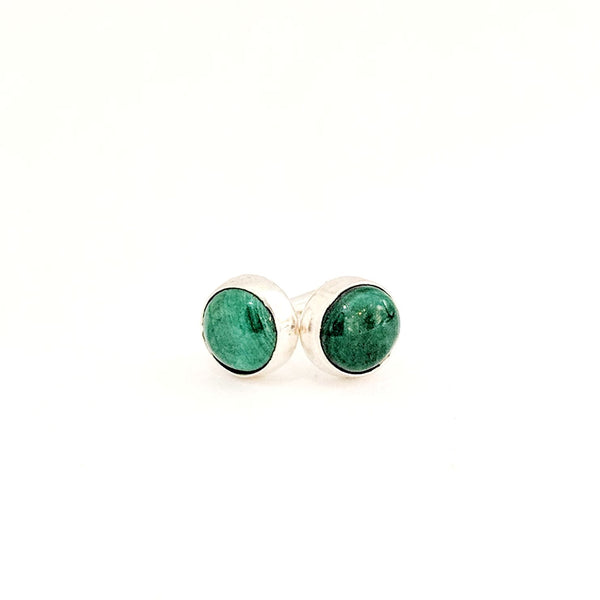 Malachite Marfa Gemstone Studs