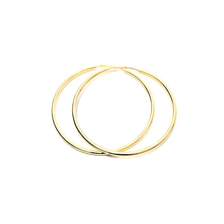Gold Endless Hoops