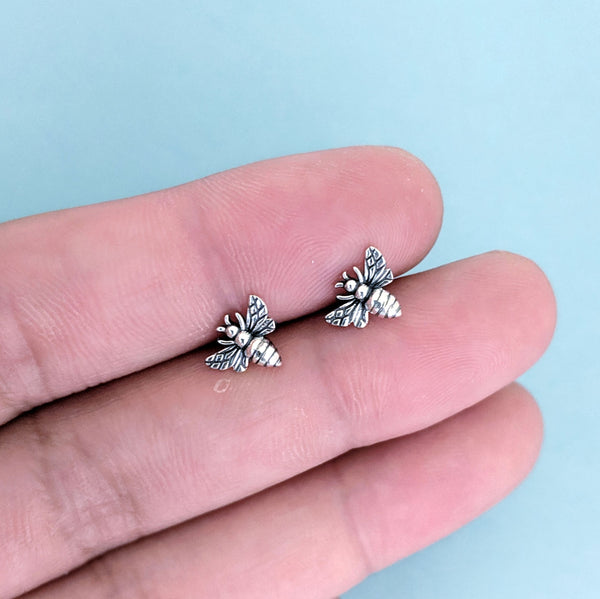 Honey Bee Studs - Sterling Silver