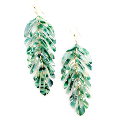 Leaf Earrings-  Fern
