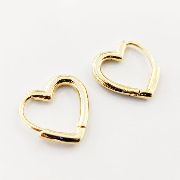 Hoop Earrings - Hilary Heart Hoops