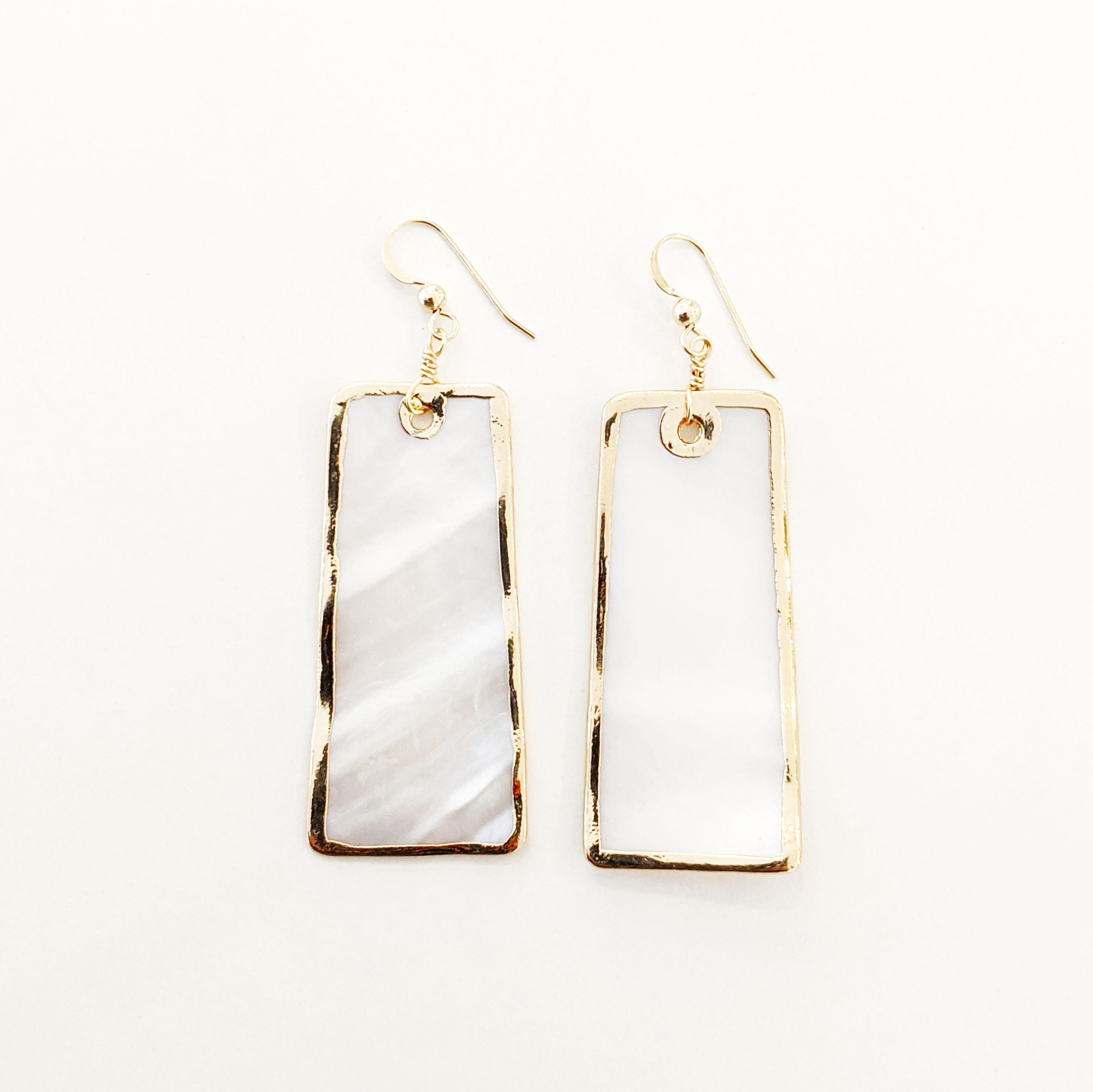 Statement Earrings - Mother of Pearl - Actual Size