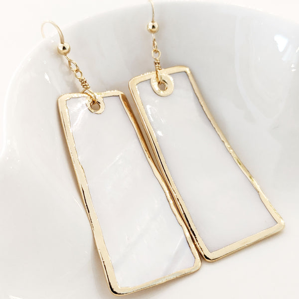 Statement Earrings - Mother of Pearl
