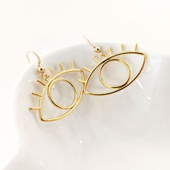 Earrings - Gold Eye