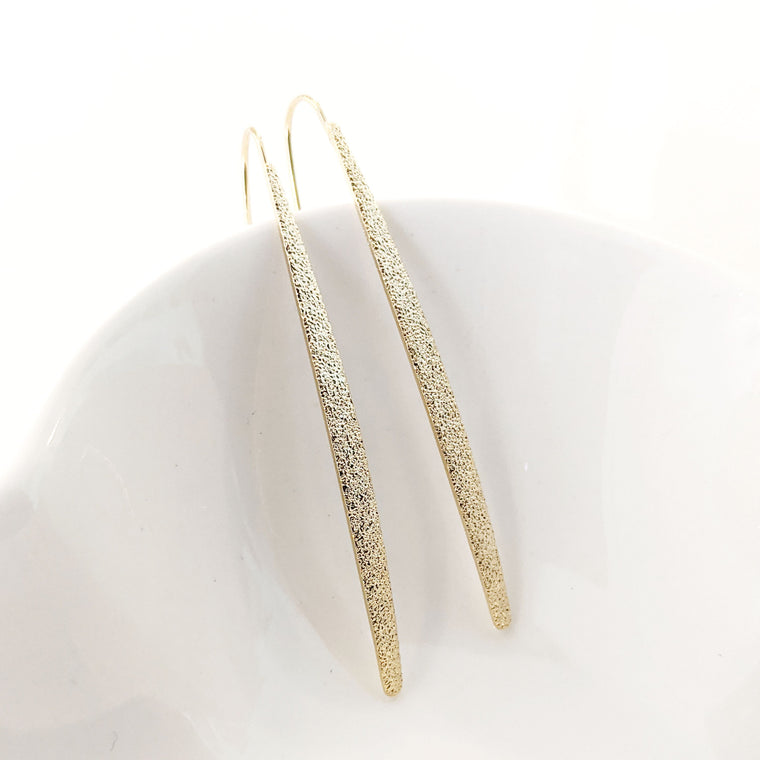 Stardust Bar Hoops Gold