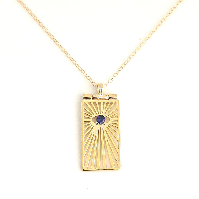 Evil Eye Crystal Ray Necklace