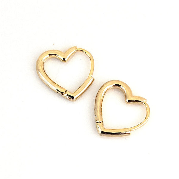 Hoop Earrings - Hilary Heart Hoops - Actual Size