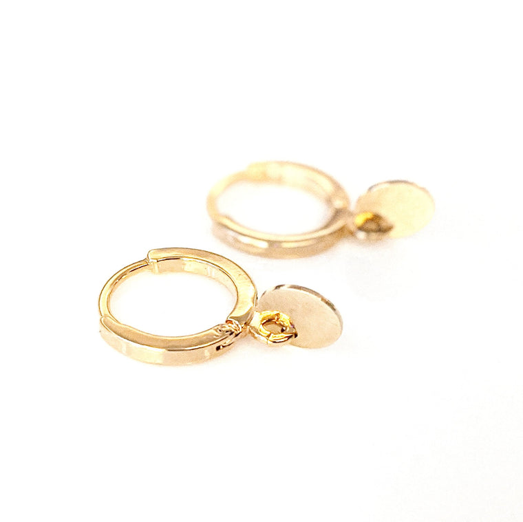 Gold Disk Hoops