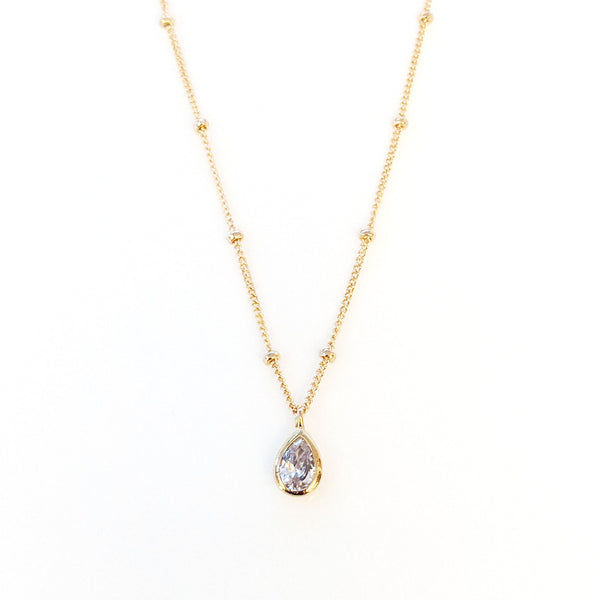 Catalina Crystal Teardrop Necklace