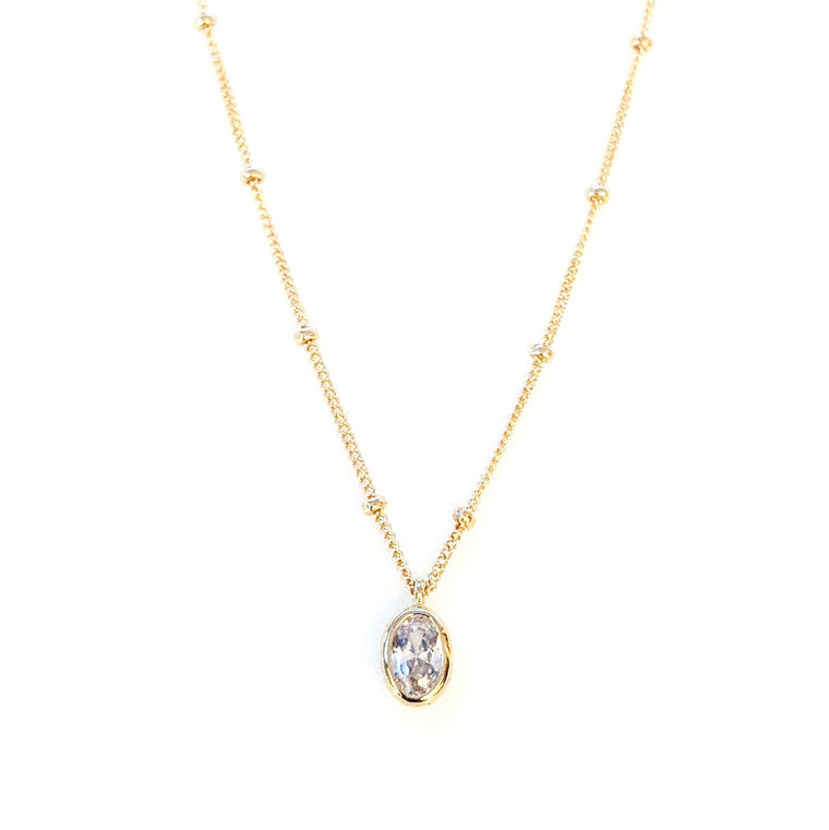 Catalina Crystal Oval Necklace