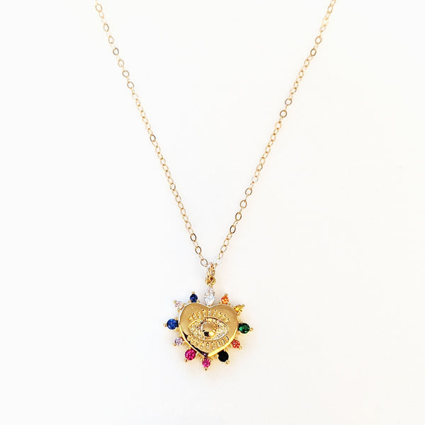 Evia Eye Rainbow Necklace