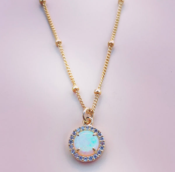 Opalite Circle Necklace for Women