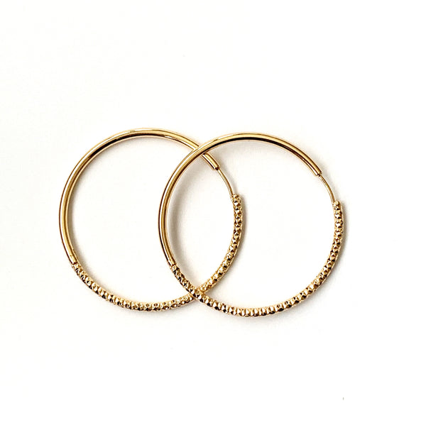Hoop Earrings - Dahlia Diamond Cut Hoops