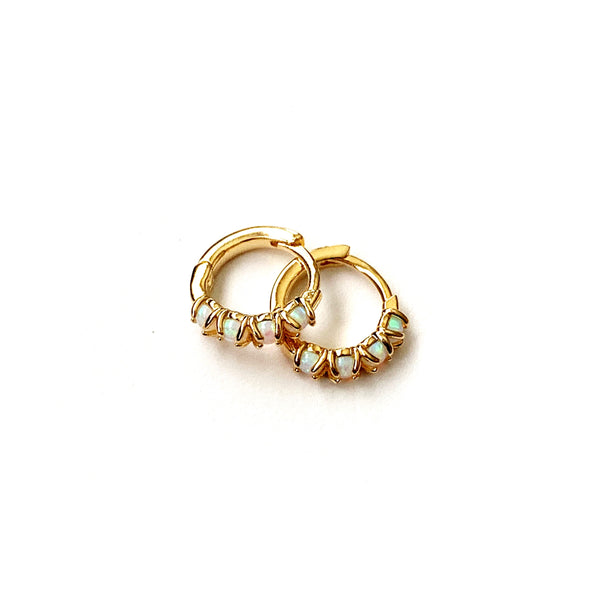Hoop Earrings - Osaka Opal Hoops