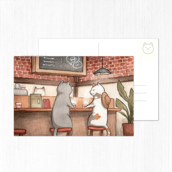 **SECONDS** Coffee Date Postcard - loststreetkat