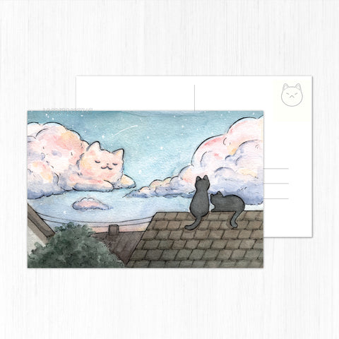Cat Cloud Postcard