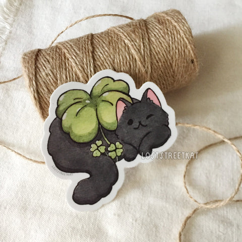 Clover Kitty Vinyl Sticker