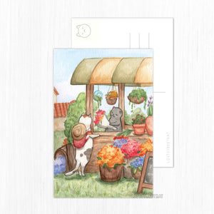 Flower Cart Postcard